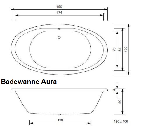 badewanne 11 x oval hoesch spectra 180 largo od t r design pia aura sonja ebay. Black Bedroom Furniture Sets. Home Design Ideas