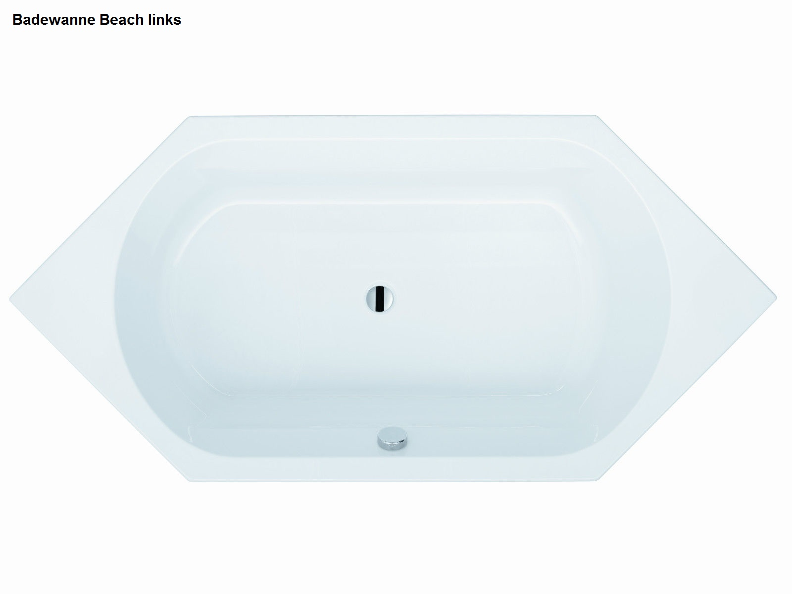 badewanne beach 6 eck 190 x 90 x 45 rechts o links aus deutscher fertigung ebay. Black Bedroom Furniture Sets. Home Design Ideas