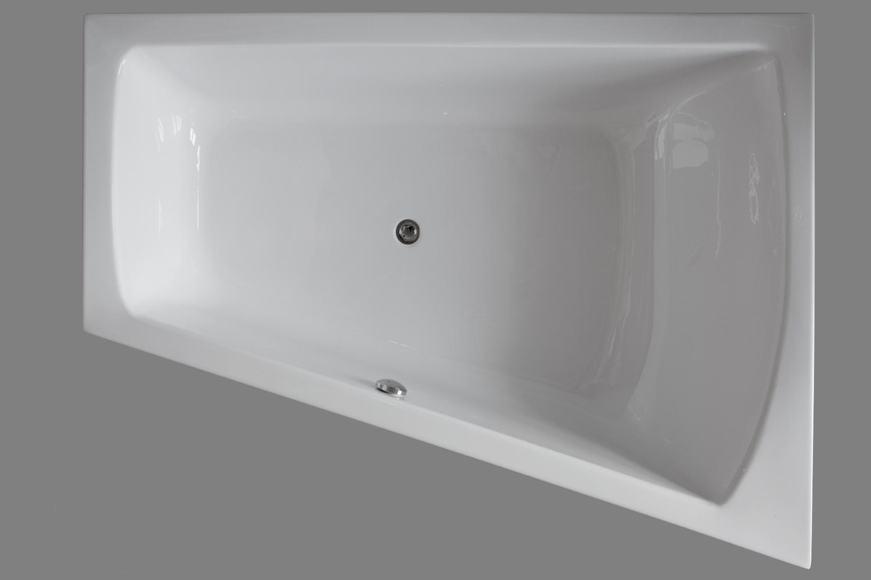 raumsparwanne badewanne galatea coast 180 x 130 x 45 cm links ct180 130u ebay. Black Bedroom Furniture Sets. Home Design Ideas