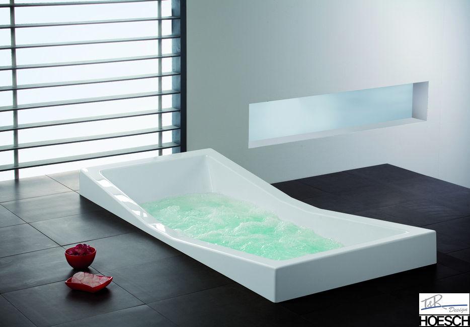 hoesch rechteck badewanne foster 180 x 80 190 x 90 zweisitzer mit mittelablauf ebay. Black Bedroom Furniture Sets. Home Design Ideas