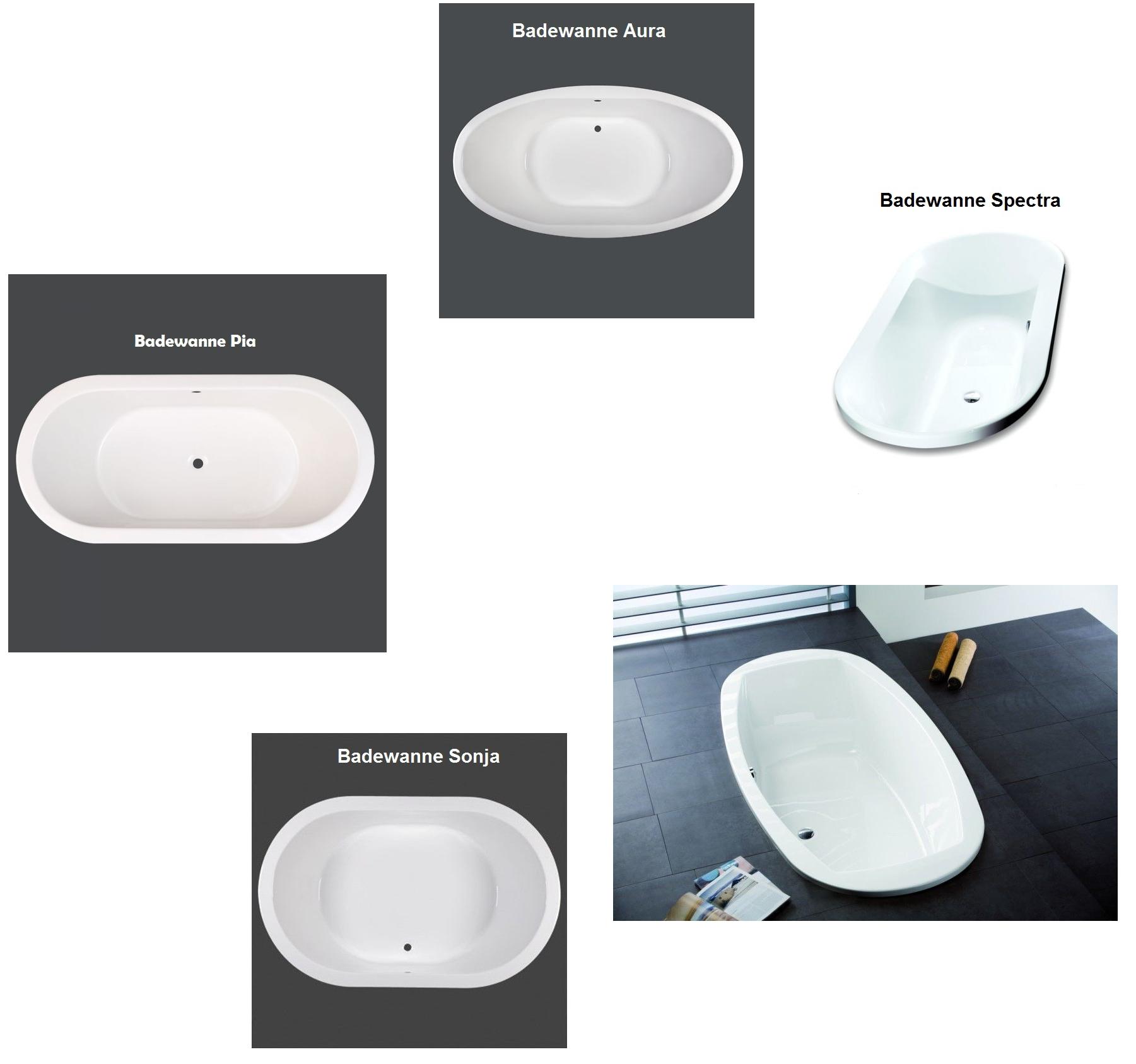 Ab Und überlaufgarnitur Badewanne Badewanne 11 x oval hoesch spectra 180 largo od t&r