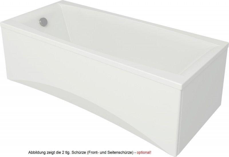 rechteck acryl badewanne virgo 180 x 80 x 43 cm sofort lieferbar ebay. Black Bedroom Furniture Sets. Home Design Ideas