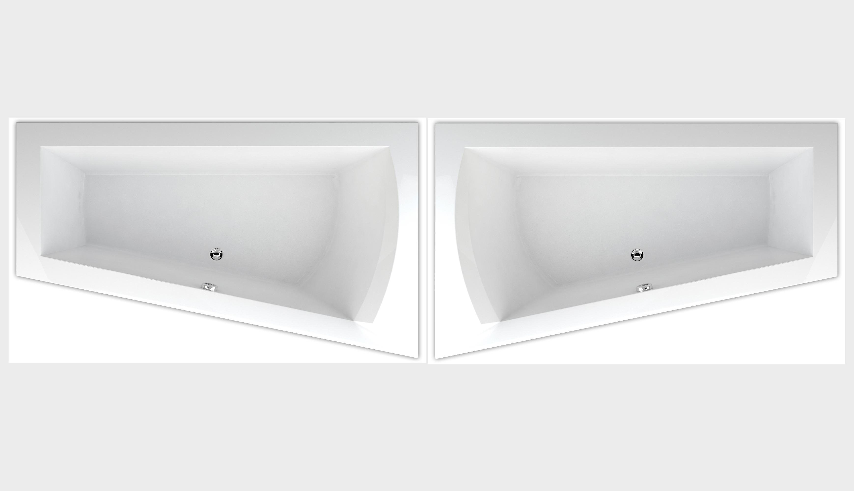 raumspar badewanne galia i 170 x 100 x 50 cm rechts links ab 369 ebay. Black Bedroom Furniture Sets. Home Design Ideas