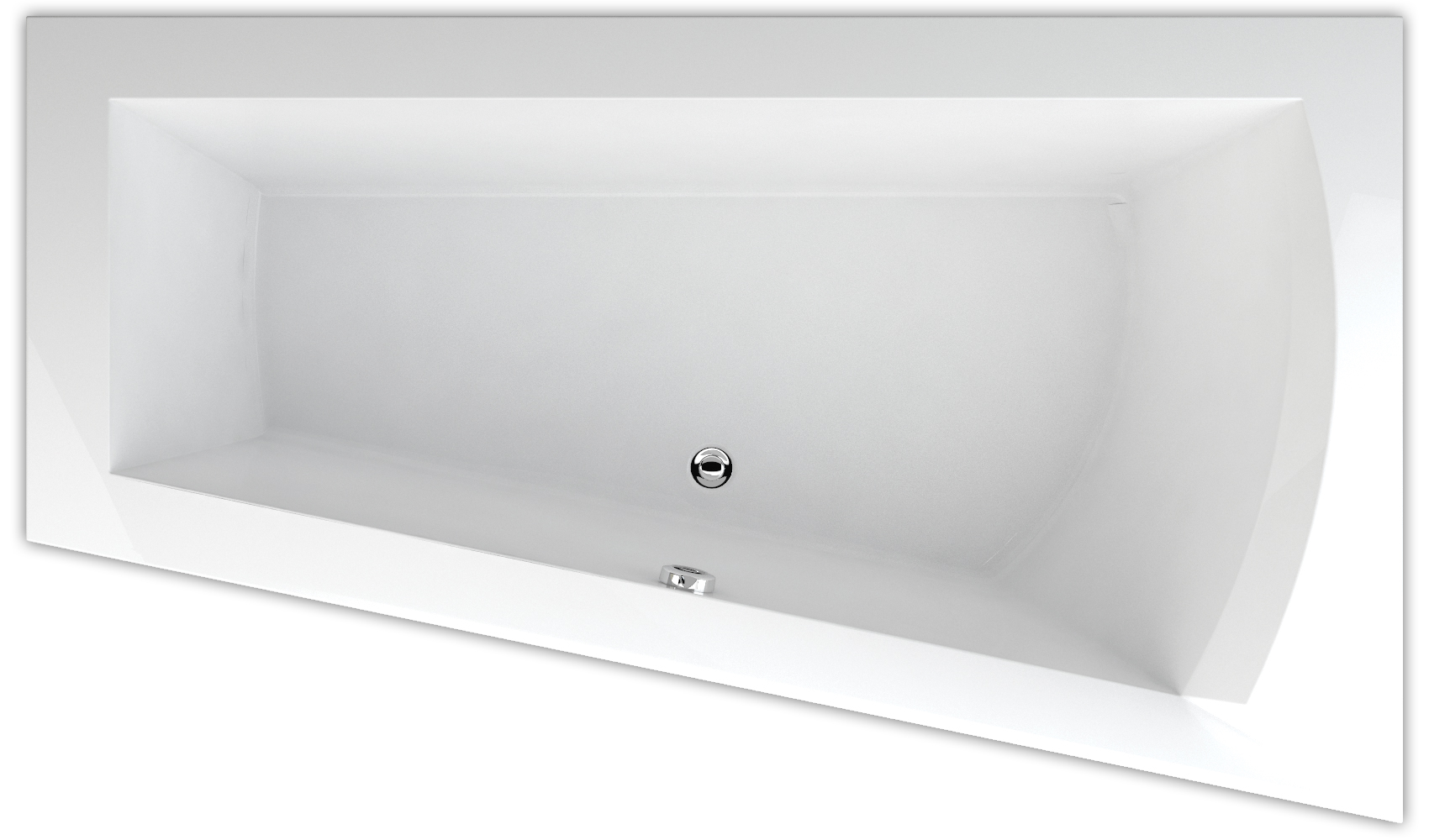 raumspar badewanne nera 170 x 100 65 5 x 50 cm form rechts sonderpreis ebay. Black Bedroom Furniture Sets. Home Design Ideas
