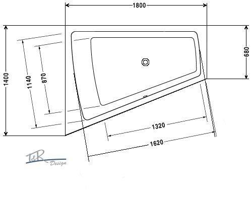 duravit badewanne paiova 180x140 170x130 r oder l 700215 700214 700216 700217 ebay. Black Bedroom Furniture Sets. Home Design Ideas