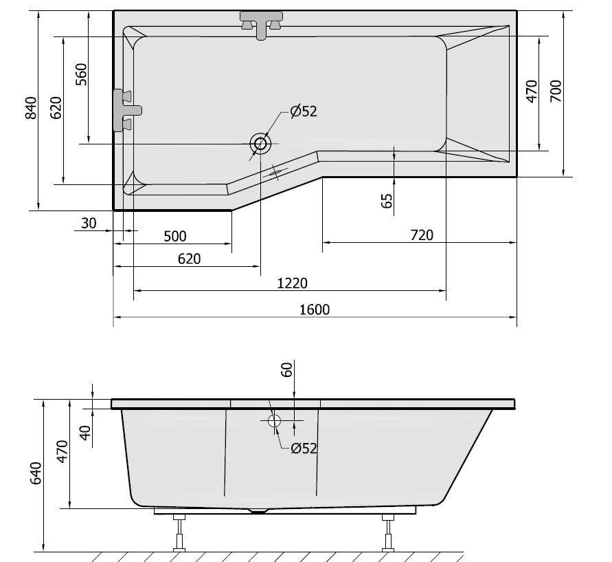 raumspar badewanne polysan versys 160 x 85 x 47 rechts sofort ebay. Black Bedroom Furniture Sets. Home Design Ideas